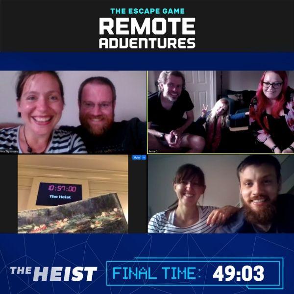 The Escape Game Remote Adventure heist