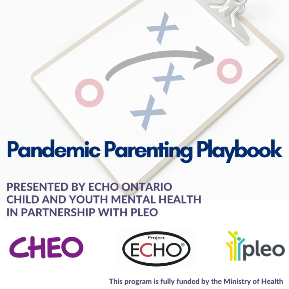 pandemic parenting playbook flyer