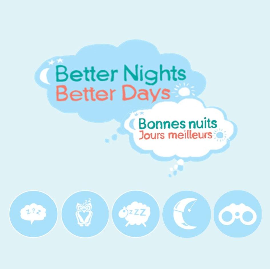 better nights better days logo for program