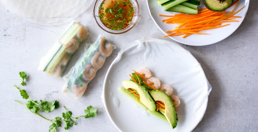 image of fresh spring rolls