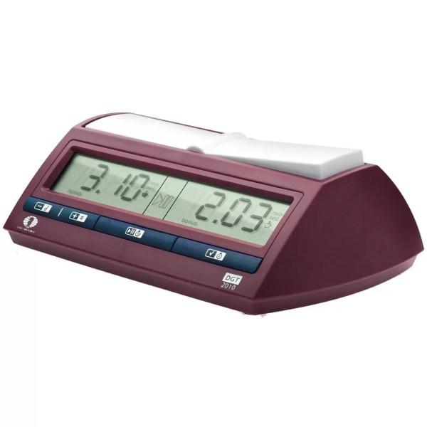 Relógio digital de xadrez DGT 2010 vermelho com botões azuis