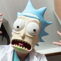 Máscara impresa en 3D de Rick Sánchez