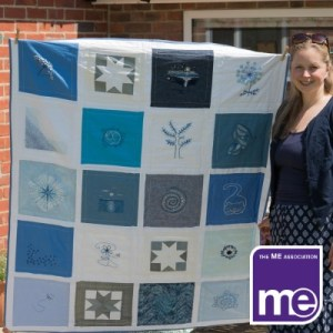 Win a beautiful quilt stitched by people from the M.E Community for a price of £1 per ticket!
