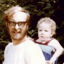 Me and my dad, 41 years ago