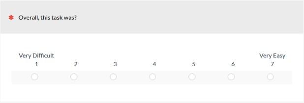 Figure 1: The Single Ease Question (SEQ).
