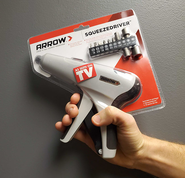 ThatDailyDeal: Arrow Squeeze Driver - Unique squeeze action screwdriver / ratcheting tool! $11.99 - SHIPS FREE!