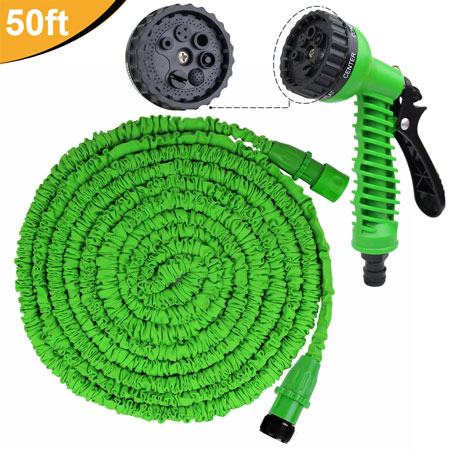 Meatball.ThatDailyDeal - EXTREME SGD - CLEARANCE - 50 Foot Expanding Garden Hose with Spray Nozzle - Never Roll Up A Hose Again! SHIPS FREE!