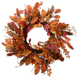 leaves and berries fall wreath