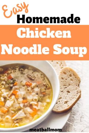 This Chicken Noodle Soup recipe is easy to make and great for soothing colds #chickensoup #chickennoodlesoup #soup #souprecipeseasy #souprecipe #easyrecipe #easydinner #easysoup