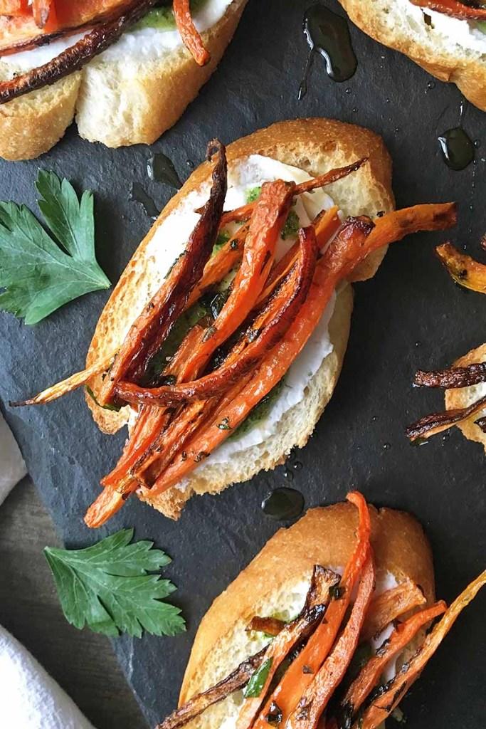 carrot-tartines-with-pesto