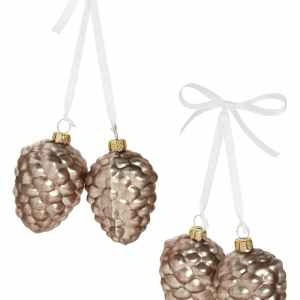 set of 4-glass-pinecone-ornaments