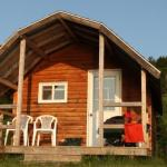 Book a cabin at meat cove campground