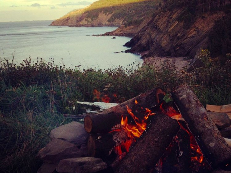 Evening Fire Meat Cove Campground