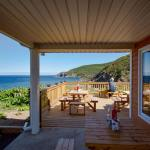 View From the Deck of the Chowderhouse Restaurant in Meatcove Campground