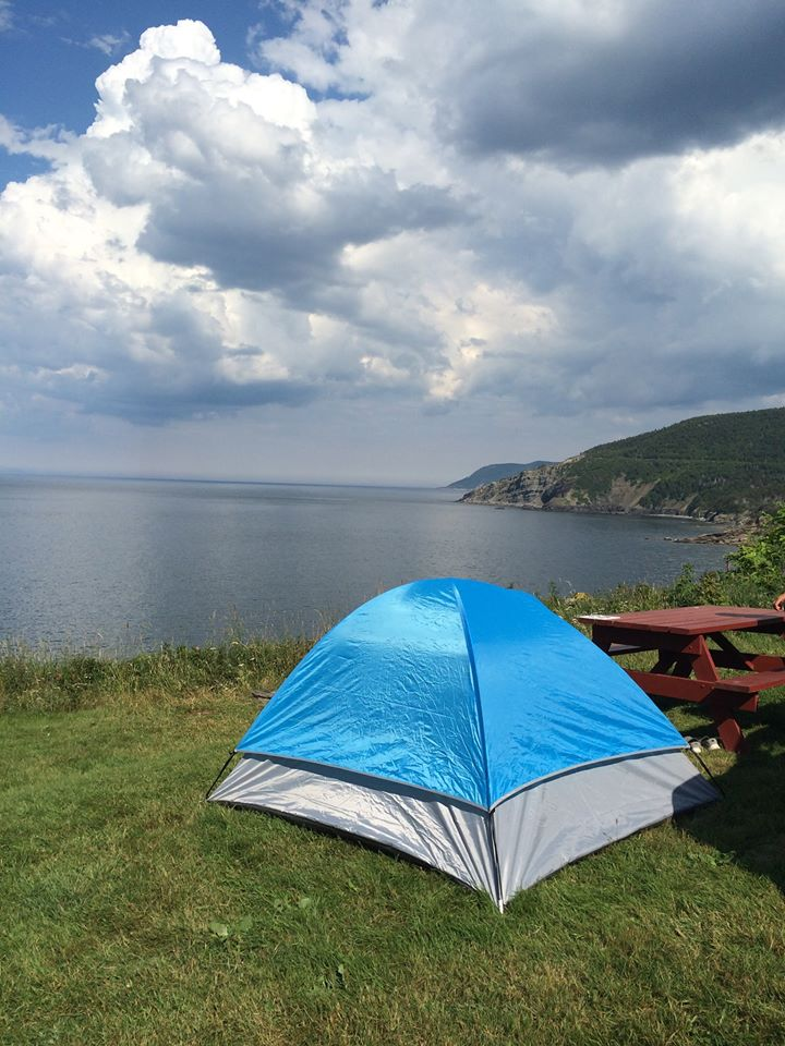 Tenting at meat cove campground