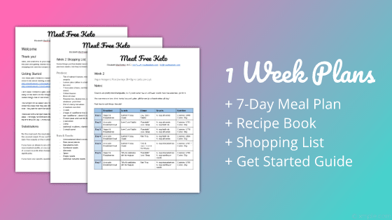 One Week Vegan Keto Meal Plan | Meat Free Keto - a meal plan, recipe book and shopping guide designed to kick start your low carb vegan journey!