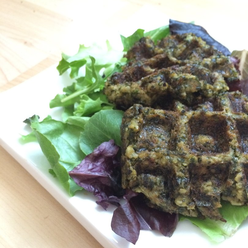 Delicious vegan, low-carb paleo falafel waffles!