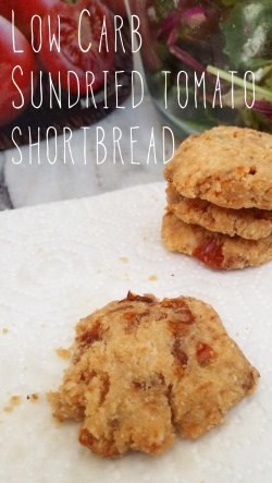 Low Carb Sundried Tomato Shortbread | Meat Free Keto - gluten free, grain free, vegan and super delicious!