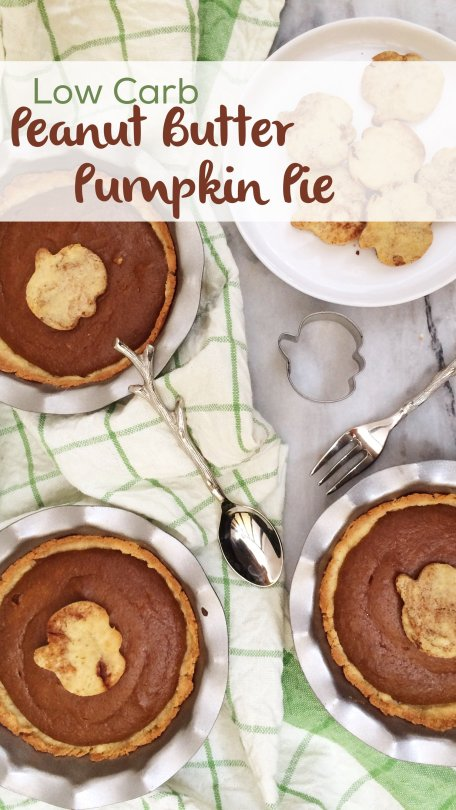 Mini Vegan Low Carb Peanut Butter Pumpkin Pies | A delicious and adorable LCHF Thanksgiving treat!