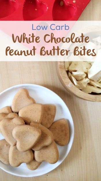 Low Carb White Chocolate Peanut Butter Bites | A sugar free, keto-friendly, LCHF fat bomb to satisfy that sweet tooth!