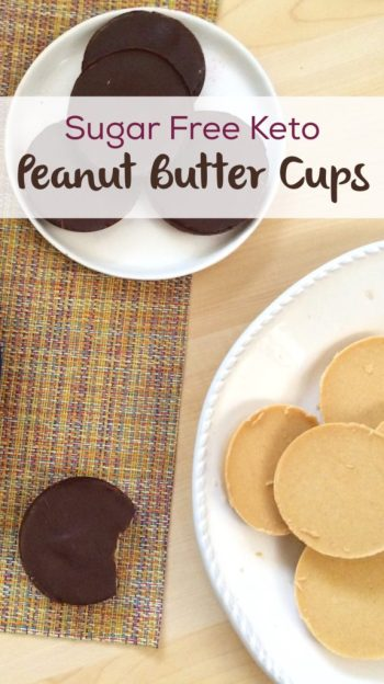 Sugar Free Keto Peanut Butter Cups | A low carb version of this tasty treat!