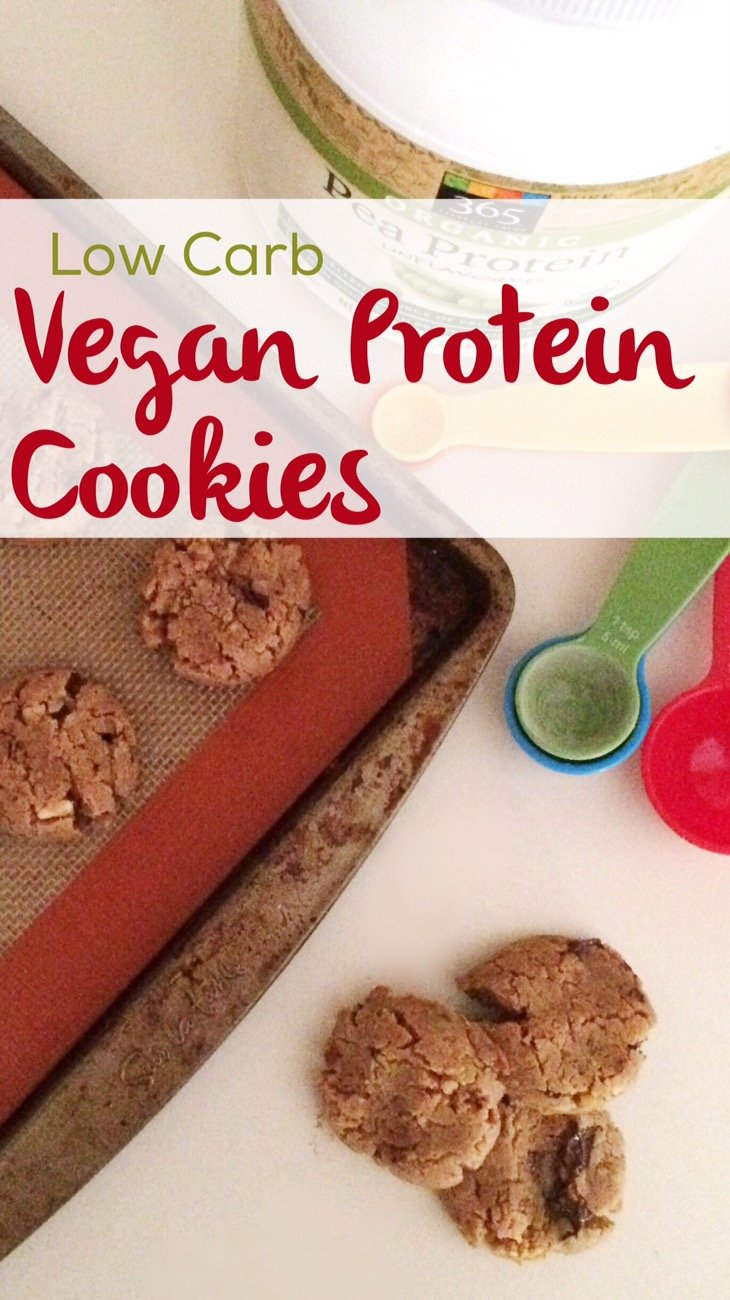 Low Carb Vegan Protein Cookies