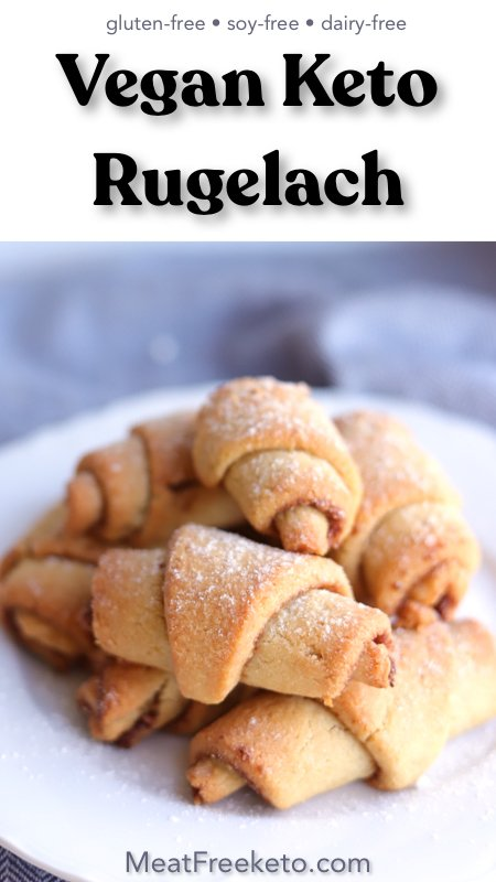 Vegan Keto Rugelach | MeatFreeKeto.com - a gluten-free, dairy-free and sugar-free twist on a classic holiday cookie!