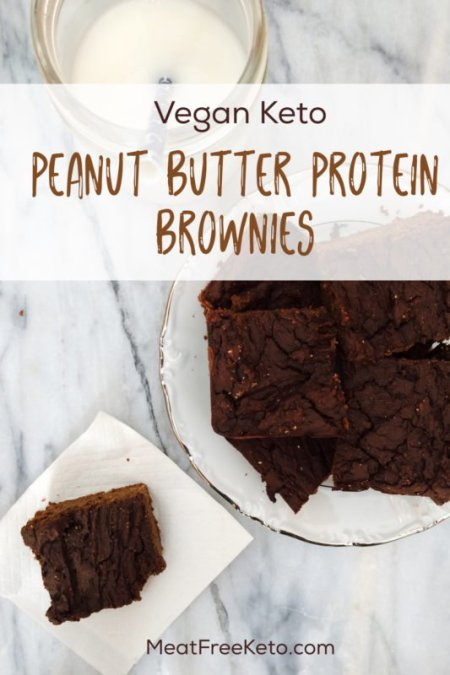 Vegan Keto Protein Brownies | Meat Free Ket o - a delicious gluten free, grain free, sugar free and low carb protein-filled treat!