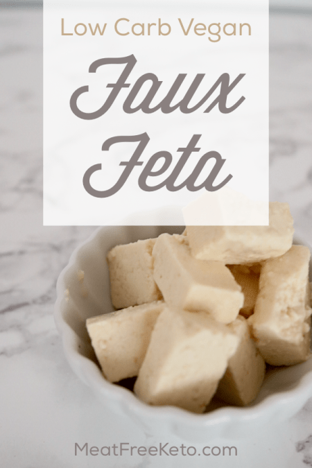 Low Carb Vegan Feta | Meat Free Keto - This tangy low carb vegan feta cheese alternative is perfect for adding to salads, pizza or quiches.