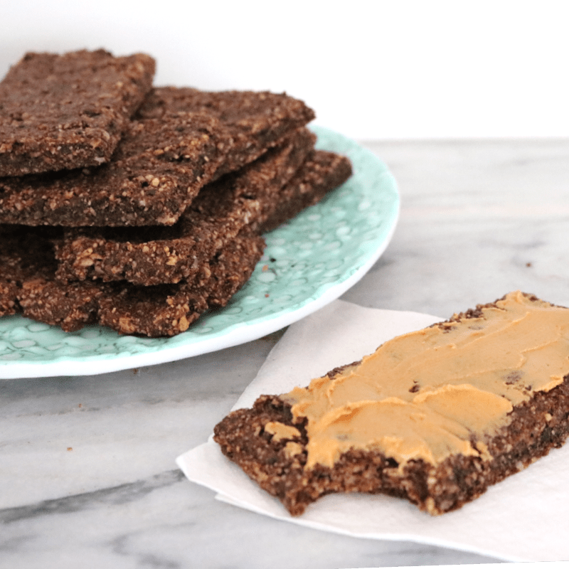 Chocolate Vegan Keto Protein Bars (gluten free, nut free, soy free)