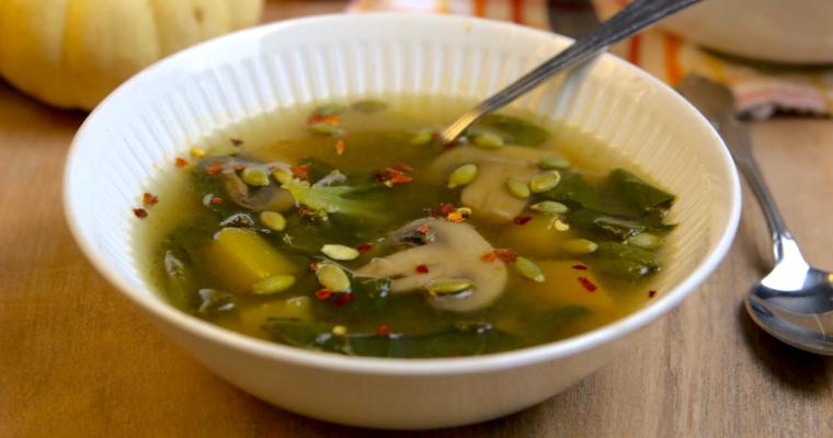 Low Carb Vegan Pumpkin Miso Soup