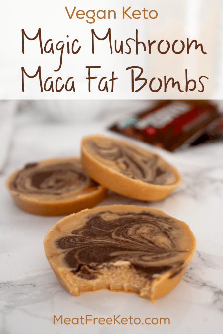 Vegan Keto Magic Mushroom Fat Bombs | Meat Free Keto - These vegan keto magic mushroom fat bombs are full of adaptogens and energy boosting ingredients to fuel your body on a low carb diet!