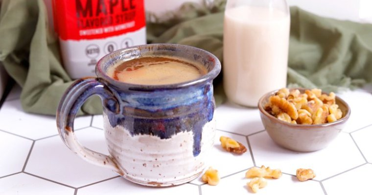 Vegan Keto Maple Walnut Milk