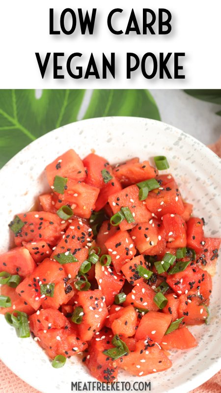 Low Carb Vegan Basic Poke   Meat Free Keto - a super simple way to add a little Hawaiian flavor to your veggie bowl.