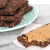 Low Carb Vegan Protein Bars | Meat Free Keto - These chocolate low carb vegan protein bars are gluten free, nut free and soy free and contain just 1.4g of net carbs per serving!