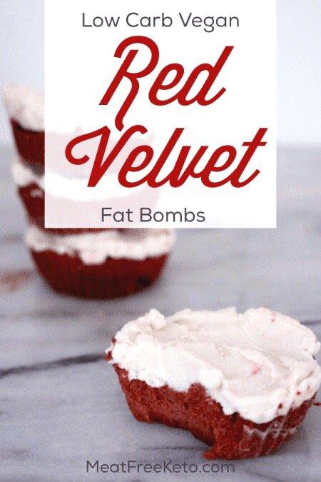 vegan keto red velvet fat bomb pinterest image