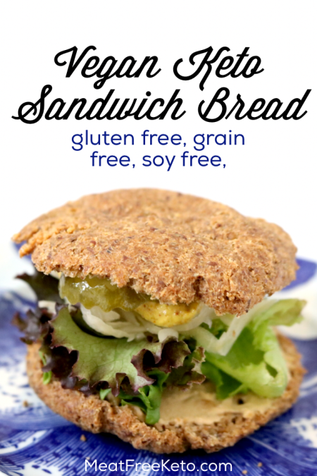 Low Carb Vegan Sandwich Bread | Meat Free Keto - a gluten free, grain free, keto roll recipe that's so tasty you won't miss real bread!