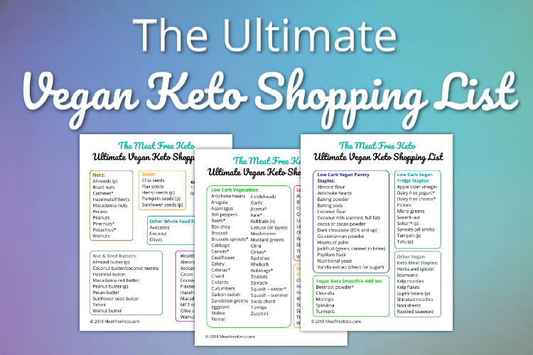 photograph relating to Printable Keto Shopping List identified as The Greatest Vegan Keto Searching Record Meat Absolutely free Keto