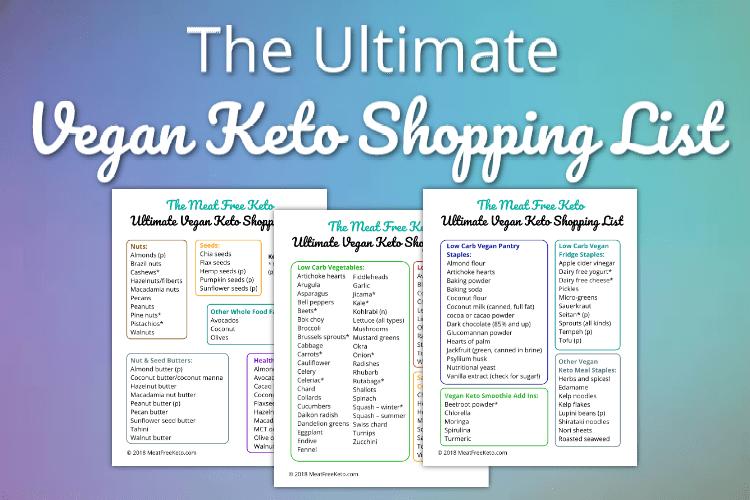 image regarding Keto Shopping List Printable referred to as The Greatest Vegan Keto Browsing Listing Meat No cost Keto