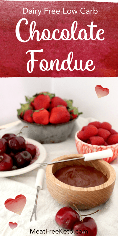 Low Carb Dairy Free Fondue | Meat Free Keto - This super easy vegan, paleo, sugar free fondue recipe is perfect for a romantic keto date night.