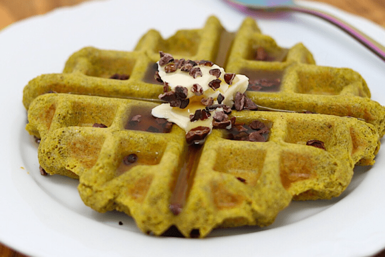 Gluten-free Vegan Keto Protein Waffle   MeatFreeKeto.com