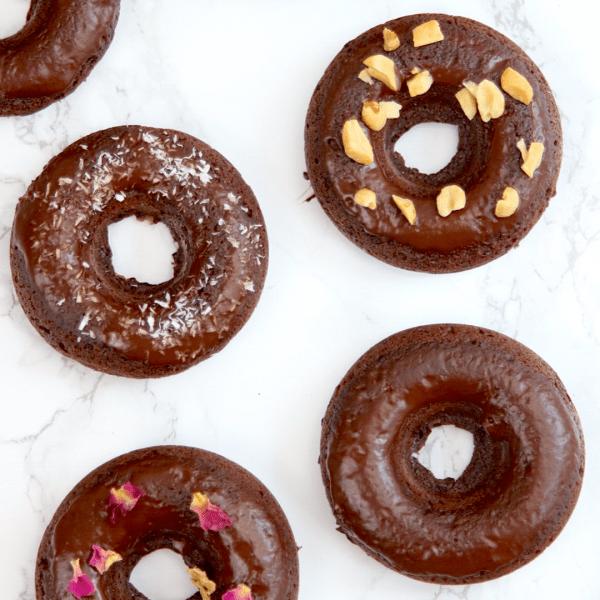 Vegan Keto Chocolate Doughnuts (gluten-free, nut-free, soy-free, coconut-free)