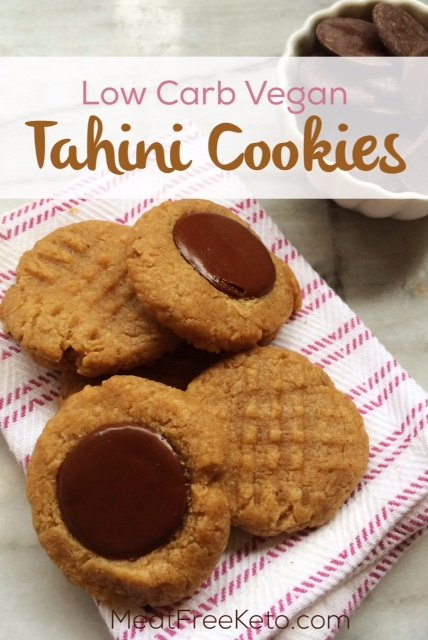 Low Carb Vegan Tahini Cookies | Gluten free, paleo, nut free and keto friendly deliciousness!
