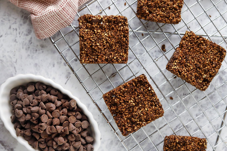 Vegan Keto Dark Chocolate Sesame Bars (gluten-free, nut-free, paleo)