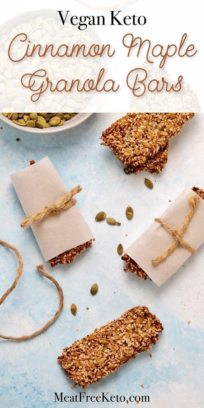 wrapped vegan keto granola seed bars