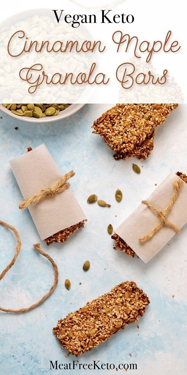 wrapped vegan keto granola seed bars