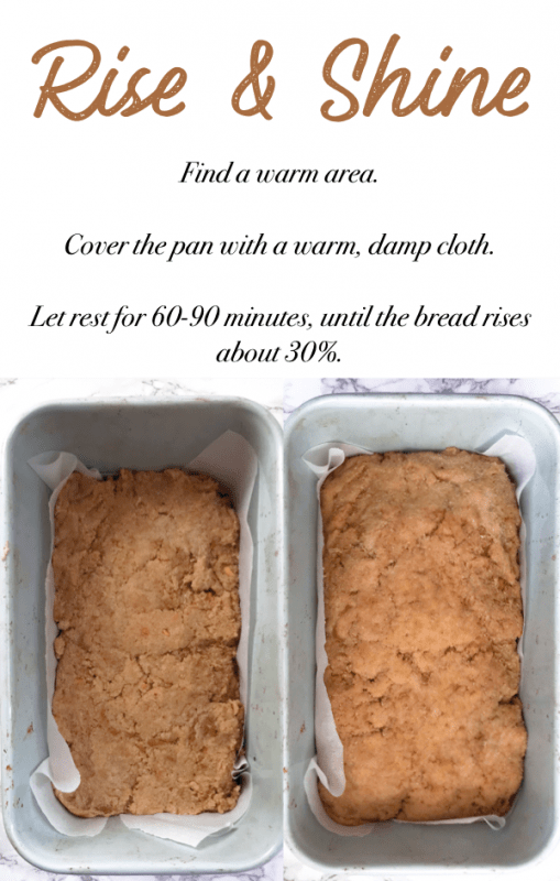 instructions for proofing vegan keto bread dough