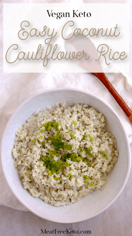 a bowl of cauliflower rice sprinkled with parsley