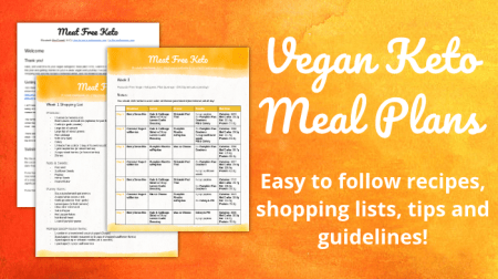 Vegan Keto Meal Plan | Meat Free Keto - a 4 week meal plan, complete with recipes and shopping lists to help you get started on a vegan ketogenic diet!