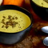 Vegan Keto Pumpkin Soup | MeatFreeKeto.com - This vegan keto pumpkin soup is the perfect way to warm up on a cold fall or winter day and makes a great addition to any dairy-free Thanksgiving feast!